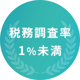税務調査率1%未満
