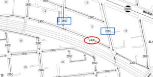 線路近くの土地と路線価図2-加工済み
